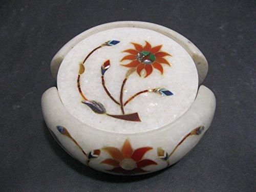114-cm-marmo-sottobicchiere-set-di-6-pezzi-pietre-semipreziose-intarsiato-pietra-dura-legno-lavoro-e