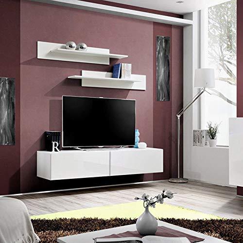 Generic. Torag Corps Armoire vitrine Placard Isplay Support TV Moderne Mat Brillant Porte R TV St Moderne Mat pertes Doo