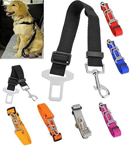 Auto-Sicherheitsgurt Hund Katze, 2er Set Anschnallgurt Adapter, verstellbar 48 bis 70 cm, Farbe Blau - 3
