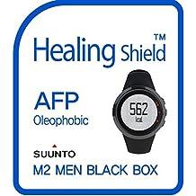 Healingshield Protecteur d'Écran Oleophobic AFP Clear Film for Suunto Watch M2 Men Black Box [Front 2pcs]
