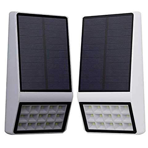 Yiwa Solarbetriebene Lichtsteuerung Auto Ein / Aus für Patio Deck Gutter Hof Garten Solar Lights 15 LED Wireless wasserdicht Outdoor Security Light