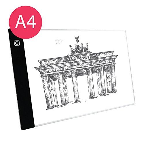 Professioneller Ultra Slim Leuchtkasten | Lightpad | Leuchttisch | Leuchtplatte zum Zeichnen | A4 | USB Kabel | Helligkeit verstellbar