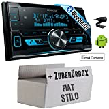Fiat Stilo - Kenwood DPX-X5000BT - 2DIN Bluetooth USB Autoradio - Einbauset