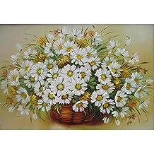 DAMENGXIANG Bricolaje Números Pintados A Mano Al Óleo Bastante Kits Canasta De Flores Bodegón Arte Abstracto