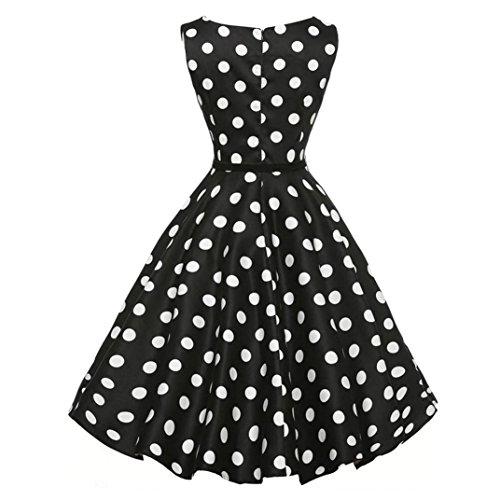Damen Party Club Kleider, Pinup Rockabilly Kleid | Spitzenkleid Faltenrock | Damen Abendkleid | Langes Kleid | Kostüm Kleid | Damen Kleidung Unter 10 Euro (L, Schwarz)