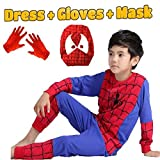 #2: Fancy Steps Complete Spiderman Costume + Gloves + Mask Superhero Costume - 7 Years