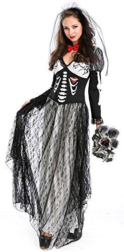 Damen-Kostüm BRAUT - DIA DE LOS MUERTOS Gr. (Damen Monster Kostüme Erwachsene Braut)