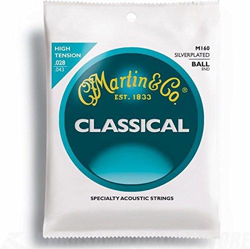 Martin Gitarrensaiten für Klassikgitarren (versilberte Umwicklung) Ball End (Gitarre Klassische Martin,)