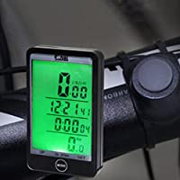 Adeeing Multifunction Cycling Odometer Wireless or Wired Bicycle Computer Bike Speedometer
