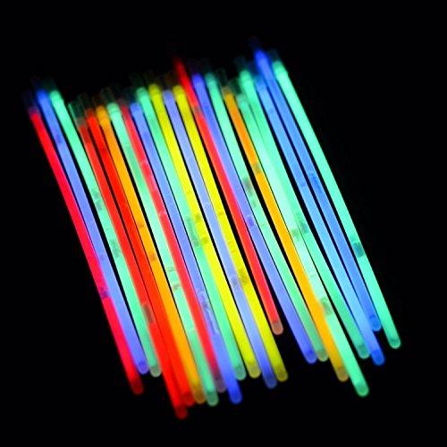 Devineshop Glowing Sticks 100Glow Armbänder mit Verbindungsstücken, Bands für Tanz, Raves Oder Party Füllstoffe 20,3cm Premium Glow Sticks (Glow Armbänder Bulk)