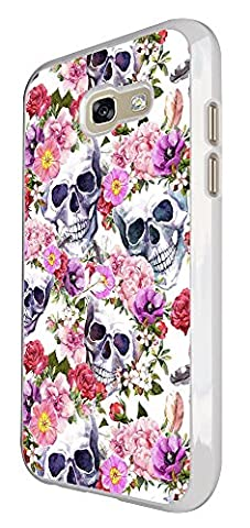 003122 - Collage Floral Sugar Skull Design For Samsung Galaxy