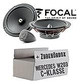 Lasse W203 Front - Lautsprecher Boxen Focal ISU165 | 16cm 2-Wege System Auto Einbauzubehör - Einbauset für Mercedes C- JUST SOUND best choice for caraudio