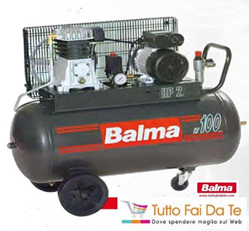 compressore balma bicilindrici con serbatoio da lt.100