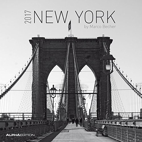 New York 2017 - Broschürenkalender (30 x 60 geöffnet) - schwarz/weiß - Städtekalender - Wandplaner