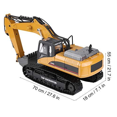 RC Auto kaufen Baufahrzeug Bild 3: Dilwe Fernbedienung Engineering Fahrzeug RC Bagger 2.4G 1:14 Skala 3 in 1 RC Elektro Modell Bagger Engineering Baufahrzeug Spielzeugauto*
