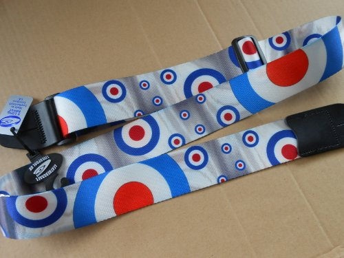 uk-made-extra-long-redwhite-blue-target-bullseye-adjustable-electricacoustic-bass-guitar-strap-with-