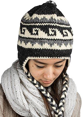 Tribe Azure Fair Trade Paraorecchie di lana per donna