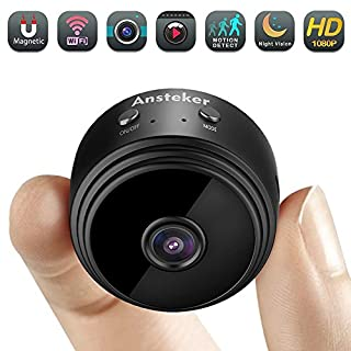 Mini Spy Camera, Ansteker WiFi Hidden Camera Wireless HD 1080P with Motion Detection Night Vision Indoor Security Cameras, Nanny Baby Pet Cam for iPhone/Android/iPad/PC