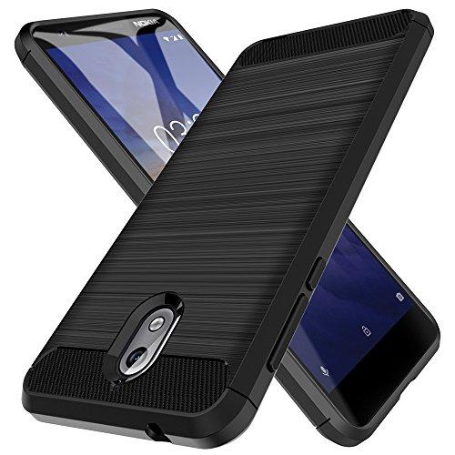 LK Cover per Nokia 3.1 Custodia, [Anti-Impronta Digitale] [Slim Fit] [Flessibile] Antiurto Morbida Protettiva TPU Spazzolata