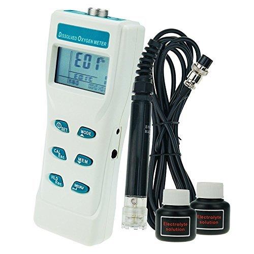 Portable Digital Großer LCD Display Monitor Dissolved Oxygen DO Meter Tester 0~199,9% / 0~19,99 PPM / 0~19,99 mg/I Reichweite mit 3,33 Meter Kabel -