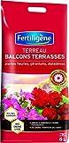 Fertiligène Terreau Balcons Terrasses Plantes Fleuries, 6L...