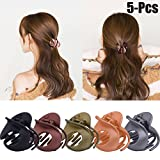 Zoylink Jaw Clips, 5Pcs Hair Clamps Simple Irregular Non Slip Claw Clips Hair Accessories for Women