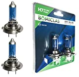 BOMICLAS H7 XENON Optik Lampe, SKY BLUE Performance Line, 12V 55W, Halogen Scheinwerferlampe, 2x Super White Birne