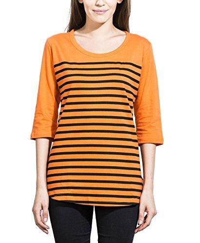 Alan Jones Women's Striped Cotton T Shirt