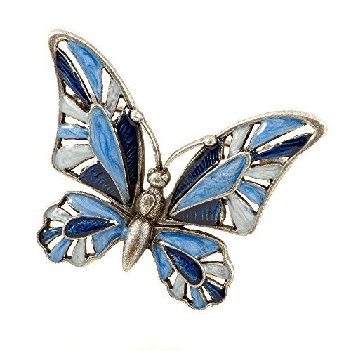 Damen-Brosche Schmetterling Blau Emaille Anstecknadel