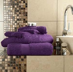 100% ägyptische Baumwolle Luxus-Badelaken lila Top Qualität Dick Saugfähig 700GSM