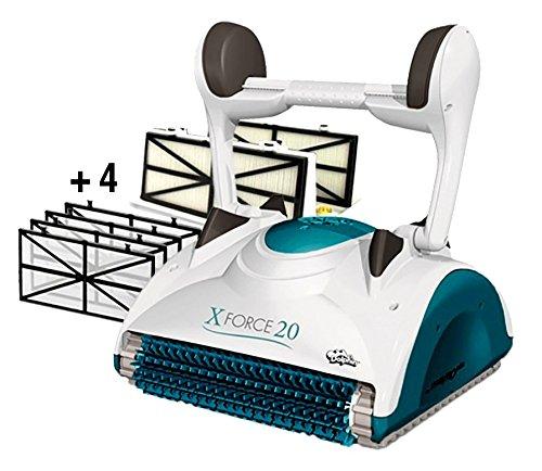 Dolphin Maytronics X Force 20 Digital - Robot Elettrico Pulitore per Piscina fino a 12 Mt - Doppia Filtrazione - NOVITA'