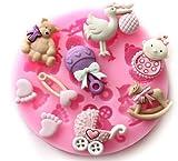 Cute Baby Füße Dusche Fondant und Gum Einfügen Silikon Kunstharz Candy Formen Kuchen Dekoration Formen