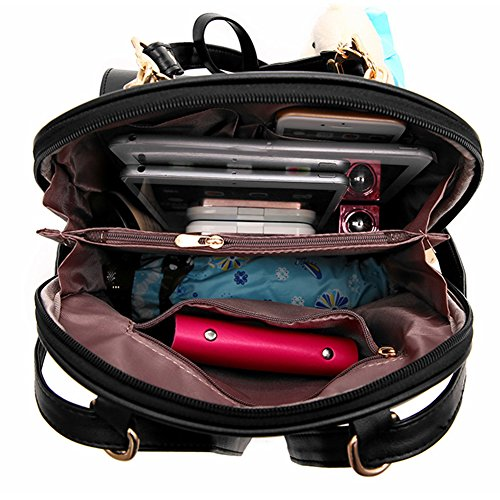 Frauen Hochschulreise im Freienbeutel Mädchen Spielraum Rucksack Daypack Schulter PU Hellblau Pink