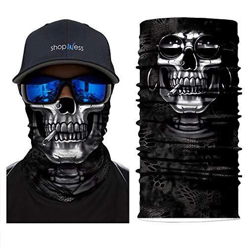 ShopINess Multifunktionales Halstuch mit Totenkopf-Motiv