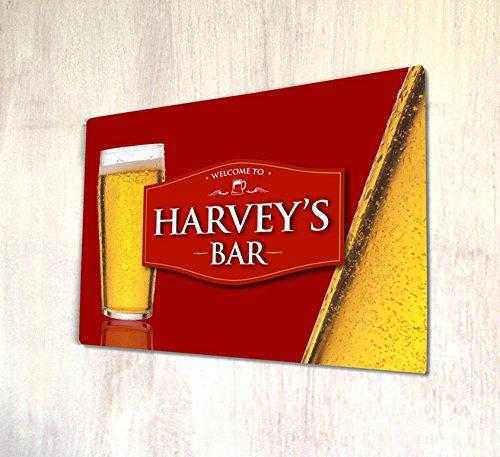 come rot Cider Bar A4Metall Schild Art Wand ()
