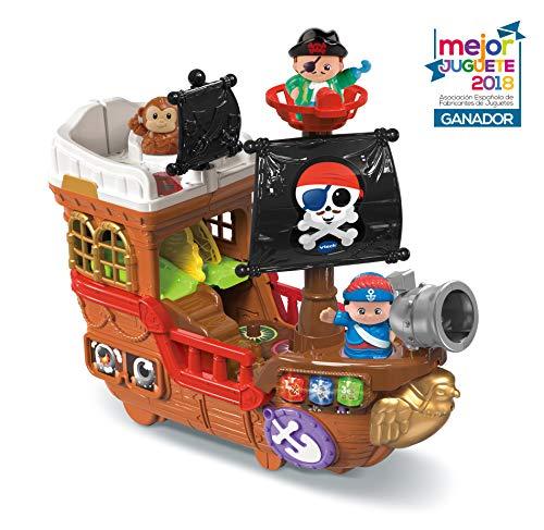 VTech Barco pirata, cazatesoros transformable en isla, incluye 3 figuras, color Verde (VTech 80-177822)