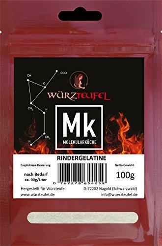 Rindergelatine, Gelatine 220 Bloom, reines Aspik. Aspikpulver, Kaltlöslich, Spitzenqualität aus der Schweiz. Beutel 100g.