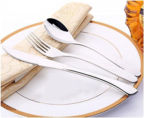 Wyzq 3pcs posate in acciaio inox colore argento partito a casa cena set da tavola da pranzo elettrodomestici da cucina accessori