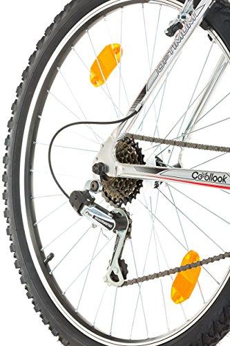 "516%2BAKJCBGL - CoollooK OPTIMUM Bicycle 26"" MAN, mountain bike, ALLOY wheels 18 speed Shimano WHITE GLOSS"