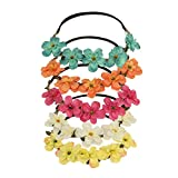 Shintop 5 Stück Haarreif , Pfirsich Blumen Stirnband für Hochzeiten, Feste, Foto-Shoots (Bunt)