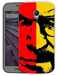 "Humor Gang Heisenberg Face Printed Designer Mobile Back Cover For ""Motorola Moto G2"" (3D, Matte Finish, Premium Quality, Protective Snap On Slim Hard Phone Case, Multi Color)"
