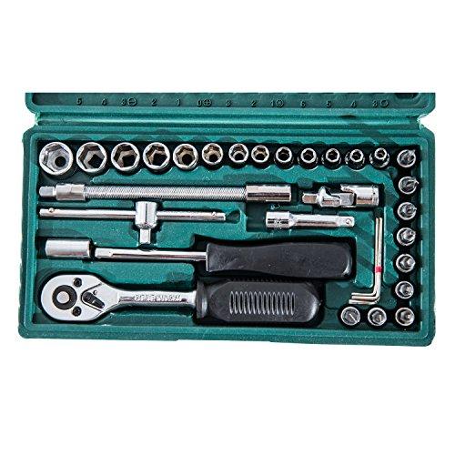 Homcom 59/94/108-tlg. Werkzeug Set Satz Steckschlüssel Kasten Kfz Werkzeugkoffer Knarrenkasten (Modell 1) - 2