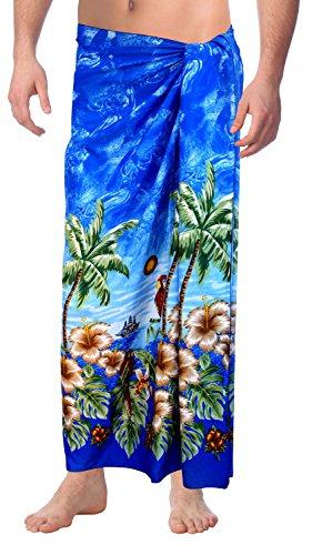 Strand tragen Mens Sarong Pareo Wickel Vertuschungen Badeanzug Aloha Badebekleidung schwimmen Google Blau