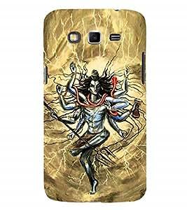 Nextgen Designer Mobile Skin for Samsung Galaxy Grand 2 :: Samsung Galaxy Grand 2 G7105 :: Samsung Galaxy Grand 2 G7102 :: Samsung Galaxy Grand Ii (Bhole Nataraja Thandav Angery Shiva Worship)