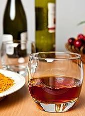Jaipurwala Whisky Glass, Barrel Whisky Oval Round Whisky glass (Set of 2)