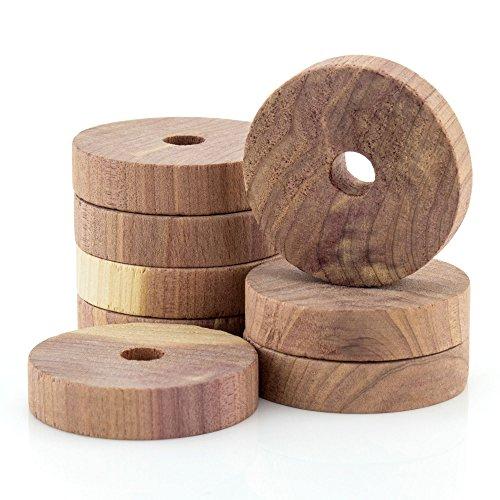 12 Zedernholz Ringe – Natürlicher Mottenschutz - Hangerworld (Cedar Die Für Holz Schubladen)