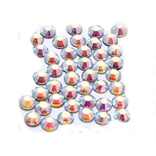 MRLIFY 1440pcs Rounde Glas Kristall Strass, Kunst und Handwerk Dekoration, Weiß, 4mm