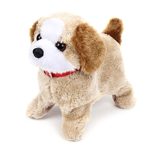 MW Toyz Fluffy Adorable Jumping Funtastic Puppy | Features Include Barking, Waging Tail, Walking and Jumping | Best for Toddlers and Kids