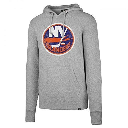 '47 Brand New York Islanders Knockaround Hoodie NHL Sweatshirt Grau, L (New York Islanders Hoodie)
