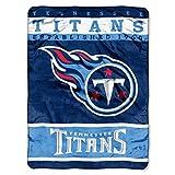 NFL Tennessee Titans Plush Raschel Blanket, 60 x 80-Inch, Blue